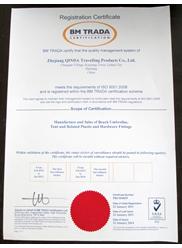 BM TRADA 认证证书 英文